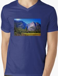 Upper Falls Yosemite Mens V-Neck T-Shirt