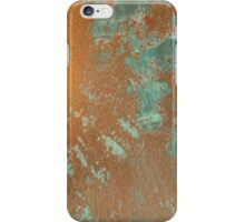 Copper metal with oxide patina iPhone Case/Skin