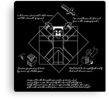 Vitruvian Minecraft Canvas Print