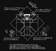 Vitruvian Minecraft One Piece - Short Sleeve