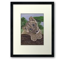 Ol' Blue Eyes by Karie-Ann Cooper Framed Print