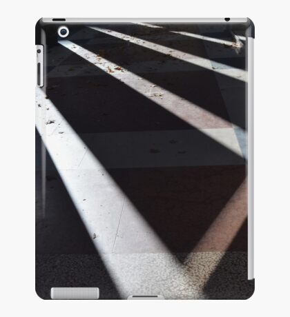 Abstract background created with lights and shadows in walkway with columns. iPad Case/Skin
