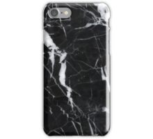 Polished black marble art deco phone case iPhone Case/Skin