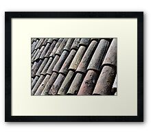 Texture with roof detail. Framed Print