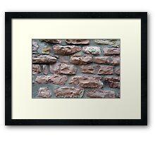 Brick grungy texture Framed Print