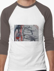 Bicycle shadow on the ground. Men's Baseball ¾ T-Shirt