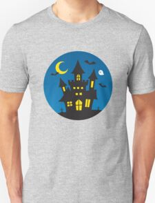 Kids Cute Halloween Ghost Haunted House Graphic Cute Unisex T-Shirt