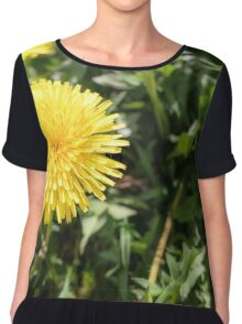 Yellow Dandelion Flowers Chiffon Top