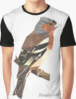 Fringilla coelebs [MALE] - Low Poly () Graphic T-Shirt