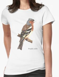 Fringilla coelebs [MALE] - Low Poly () Womens Fitted T-Shirt