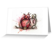 Heart Pumper  Greeting Card