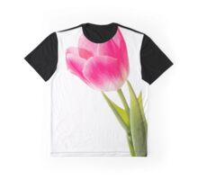 Red Tulip on White Background Graphic T-Shirt