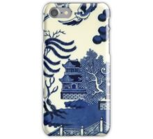 Antique willow ware iPhone Case/Skin