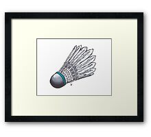 blue shuttle Framed Print