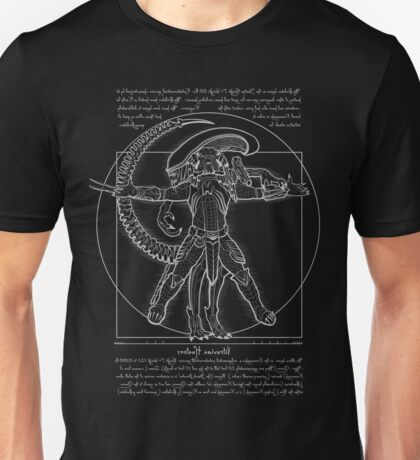 Vitruvian Hunters (Negative Text) Unisex T-Shirt