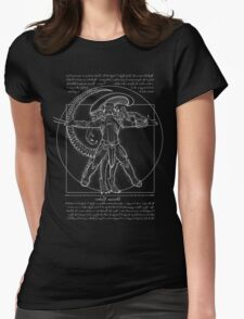 Vitruvian Hunters (Negative Text) Womens Fitted T-Shirt