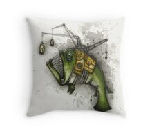 Clockwork Angler Throw Pillow