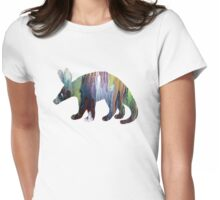 Aardvark silhouette Womens Fitted T-Shirt