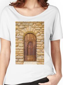 Old door and stone wall in Southern France Women's Relaxed Fit T-Shirt