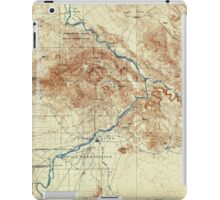 USGS TOPO Map Arizona AZ Parker 315388 1911 125000 iPad Case/Skin