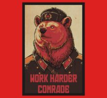 Soviet Bear - Work Harder Comrade by howardhbaugh