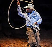 Roping at the Rodeo by TonyCrehan