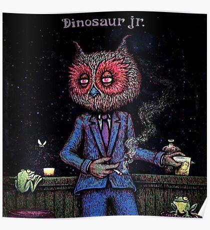 dinosaur jr owl theme artwork heru Poster