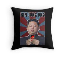 Kim Jong UNO Throw Pillow