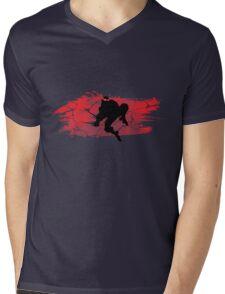 TEENAGE MUTANT NINJA TURTLE RAPHAEL Mens V-Neck T-Shirt