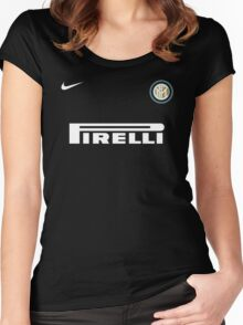 inter milan football Women's Fitted Scoop T-Shirt