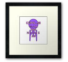 Girls can be nerds too Framed Print