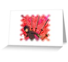 seraph of the end Bladestorm Greeting Card