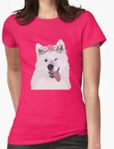 Pretty Samoyed Dog Womens Fitted T-Shirt