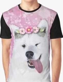 Pretty Samoyed Dog Graphic T-Shirt