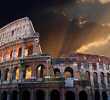 The Coliseum of Ancient Rome by jwwallace