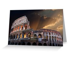 The Coliseum of Ancient Rome Greeting Card
