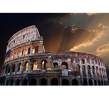 The Coliseum of Ancient Rome Photographic Print