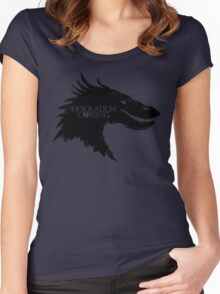 The Desolation Of Smaug - Smaug is Coming Women's Fitted Scoop T-Shirt