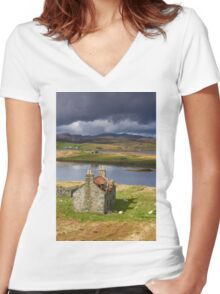 Abandoned Croft Women's Fitted V-Neck T-Shirt