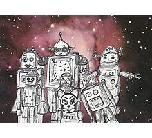 Robot Holiday 1 Photographic Print