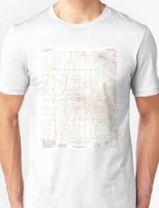USGS TOPO Map Arizona AZ Midway 312355 1986 24000 Unisex T-Shirt