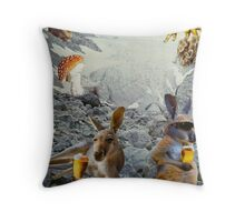 Kangaroo Holiday Throw Pillow