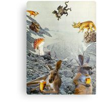 Kangaroo Holiday Metal Print