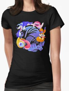Monsters Rule Womens Fitted T-Shirt