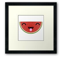 Silly Watermelon Framed Print
