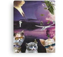Attack of the Cool Cats Canvas Print