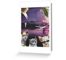 Attack of the Cool Cats Greeting Card