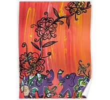Purple Elephants Poster