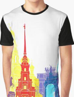 St Petersburg skyline pop Graphic T-Shirt