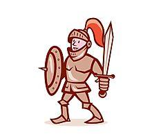 Knight Shield Sword Cartoon Photographic Print